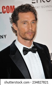 LOS ANGELES, CA - OCTOBER 21, 2014: Matthew McConaughey at the 28th Annual American Cinematheque Award Gala honoring Matthew McConaughey at the Beverly Hilton Hotel.