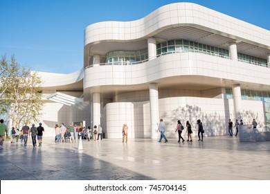 Los Angeles, CA: October 21, 2017:   The Getty Center in Los Angeles.  The Getty Center opened its doors in  December 16, 1997.