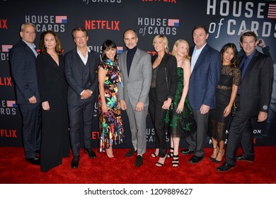 LOS ANGELES, CA. October 22, 2018: Campbell Scott, Diane Lane, Greg Kinnear, Constance Zimmer, Michael Kelly, Robin Wright, Patricia Clarkson, Boris McGiver, Nini Le Huynh & Derek Cecil at House of Ca