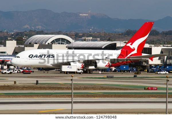 Los Angeles Ca October 23 Qantas Stock Photo (Edit Now
