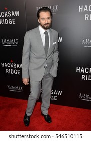 "LOS ANGELES, CA. October 24, 2016: Actor Richard Pyros at the Los Angeles premiere of ""Hacksaw Ridge"" at The Academy's Samuel Goldwyn Theatre, Beverly Hills."