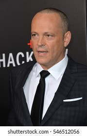"""LOS ANGELES, CA. October 24, 2016: Actor Vince Vaughn at the Los Angeles premiere of """"Hacksaw Ridge"""" at The Academy's Samuel Goldwyn Theatre, Beverly Hills."""