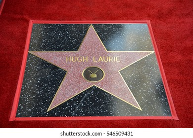 LOS ANGELES, CA. October 25, 2016: Hugh Laurie at the Hollywood Walk of Fame star ceremony honoring British actor Hugh Laurie.