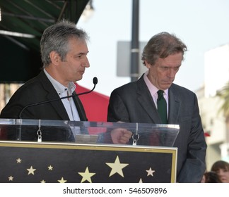 LOS ANGELES, CA. October 25, 2016: David Shore & Hugh Laurie at the Hollywood Walk of Fame star ceremony honoring British actor Hugh Laurie.