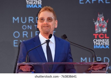 LOS ANGELES, CA - October 26, 2017: Kenneth Branagh at the hand & footprint ceremony for Kenneth Branagh at the TCL Chinese Theatre, Hollywood