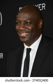"LOS ANGELES, CA - OCTOBER 27, 2015: Actor Adewale Akinnuoye-Agbaje at the US premiere of his movie ""Trumbo"" at the Academy of Motion Picture Arts & Sciences, Beverly Hills."