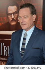 """LOS ANGELES, CA - OCTOBER 27, 2015: Bryan Cranston at the US premiere of his movie """"Trumbo"""" at the Academy of Motion Picture Arts & Sciences, Beverly Hills."""