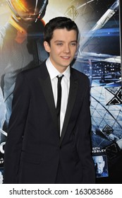 """LOS ANGELES, CA - OCTOBER 28, 2013: Asa Butterfield at the Los Angeles premiere of his movie """"Ender's Game"""" at the TCL Chinese Theatre."""