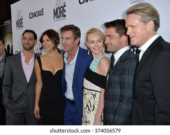 """LOS ANGELES, CA - OCTOBER 29, 2015: Cristina Rosato, Dennis Quaid, Kate Bosworth, Christian Cooke & Cary Elwes at the Los Angeles premiere for Crackle's """"The Art of More"""" at Sony Pictures Studios."""