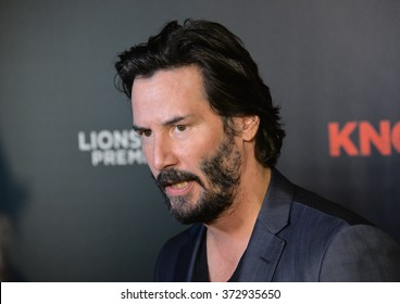 "LOS ANGELES, CA - OCTOBER 7, 2015: Actor Keanu Reeves at the Los Angeles premiere of his movie ""Knock Knock"" at the TCL Chinese Theatre, Hollywood."