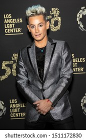 """Los Angeles, CA - Sept 21, 2019: Frankie Grande attends the Los Angeles LGBT Center's Gold Anniversary Vanguard Celebration """"Hearts Of Gold"""" at The Greek Theatre"""