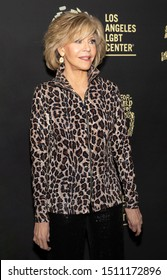 """Los Angeles, CA - Sept 21, 2019: Jane Fonda attends the Los Angeles LGBT Center's Gold Anniversary Vanguard Celebration """"Hearts Of Gold"""" at The Greek Theatre"""
