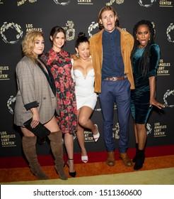 "Los Angeles, CA - Sept 21, 2019: Emma Hunton, Maia Mitchell, Cierra Ramirez, Josh Pence and Zuri Adele attend the Los Angeles LGBT Center's Gold Anniversary Vanguard Celebration ""Hearts Of Gold"""