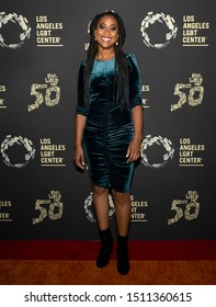 """Los Angeles, CA - Sept 21, 2019: Zuri Adele attends the Los Angeles LGBT Center's Gold Anniversary Vanguard Celebration """"Hearts Of Gold"""" at The Greek Theatre"""