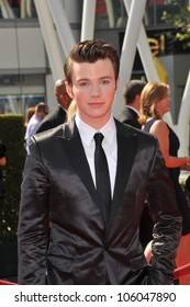 LOS ANGELES, CA - SEPTEMBER 10, 2011: Chris Colfer at the 2011 Primetime Creative Arts Emmy Awards at the Nokia Theatre L.A. Live. September 10, 2011  Los Angeles, CA
