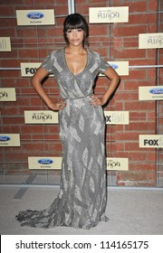 LOS ANGELES, CA - SEPTEMBER 10, 2012: Hannah Simone at the Fox Fall Eco-Casino Party in Culver City.
