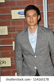 LOS ANGELES, CA - SEPTEMBER 10, 2012: Glee star Harry Shum at the Fox Fall Eco-Casino Party in Culver City.