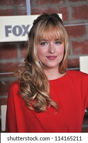 LOS ANGELES, CA - SEPTEMBER 10, 2012: Dakota Johnson, daughter of Melanie Griffith & Don Johnson, at the Fox Fall Eco-Casino Party in Culver City.