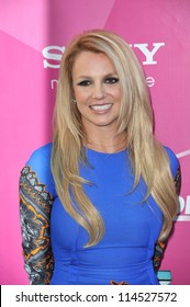 "LOS ANGELES, CA - SEPTEMBER 11, 2012: Britney Spears at the season two premiere of ""X Factor USA"". She had her handprints set in cement at Grauman's Chinese Theatre"