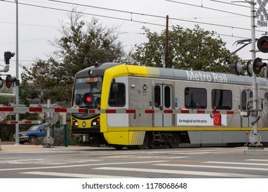 LOS ANGELES, CA- SEPTEMBER 12, 2018: A former freight rail line could be the missing link in Metro's Rail to River Corridor. The initial segment of the corridor is scheduled to open in 2019.