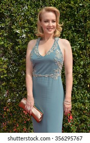 LOS ANGELES, CA - SEPTEMBER 12, 2015: Actress Wendi McLendon-Covey at the Creative Arts Emmy Awards 2015 at the Microsoft Theatre LA Live.