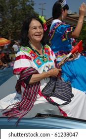 LOS ANGELES, CA- SEPTEMBER 12: Activist Dolores Huerta participates at the East L.A. Mexican Independence Day Parade, September 12, 2010 in Los Angeles, CA