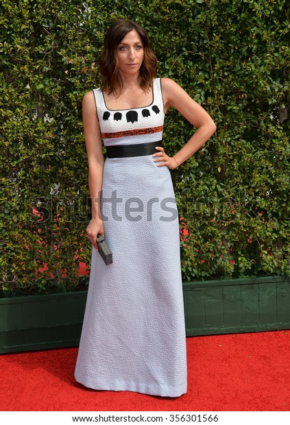 LOS ANGELES, CA - SEPTEMBER 12, 2015: Actress Chelsea Peretti at the Creative Arts Emmy Awards 2015 at the Microsoft Theatre LA Live.