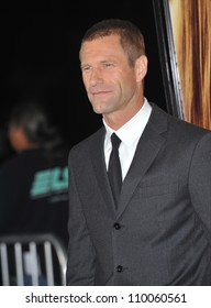 """LOS ANGELES, CA - SEPTEMBER 15, 2009: Aaron Eckhart at the world premiere of his new movie """"Love Happens"""" at the mann Village Theatre, Westwood."""