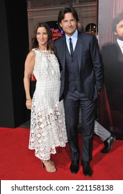 "LOS ANGELES, CA - SEPTEMBER 15, 2014: Jason Bateman & wife Amanda Anka at the Los Angeles premiere of his movie ""This Is Where I Leave You"" at the TCL Chinese Theatre, Hollywood."