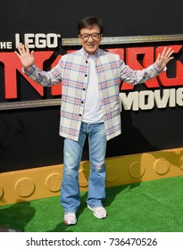 "LOS ANGELES, CA - September 16, 2017: Jackie Chan at the premiere for ""The Lego Ninjago Movie"" at the Regency Village Theatre, Westwood"