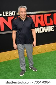 """LOS ANGELES, CA - September 16, 2017: Kevin Tsujihara at the premiere for """"The Lego Ninjago Movie"""" at the Regency Village Theatre, Westwood"""
