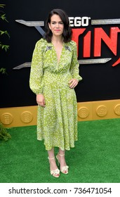 """LOS ANGELES, CA - September 16, 2017: Abbi Jacobson at the premiere for """"The Lego Ninjago Movie"""" at the Regency Village Theatre, Westwood"""
