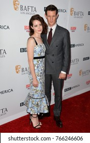 LOS ANGELES, CA. September 16, 2017: Claire Foy & Matt Smith at the BAFTA Los Angeles BBC America TV Tea Party 2017 at The Beverly Hilton Hotel, Beverly Hills
