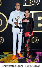 LOS ANGELES, CA. September 17, 2018: RuPaul & Michelle Visage at The HBO Emmy Party at the Pacific Design Centre.Picture: Paul Smith/Featureflash
