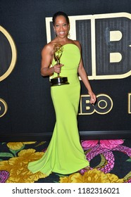 LOS ANGELES, CA. September 17, 2018: Regina King  at The HBO Emmy Party at the Pacific Design Centre.Picture: Paul Smith/Featureflash