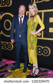 LOS ANGELES, CA. September 17, 2018: Joss Whedon & Riki Lindhome at The HBO Emmy Party at the Pacific Design Centre.Picture: Paul Smith/Featureflash