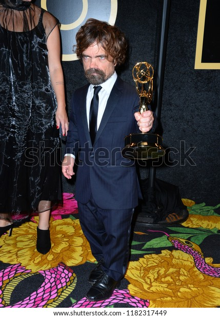 LOS ANGELES, CA. September 17, 2018: Peter Dinklage at The HBO Emmy Party at the Pacific Design Centre.