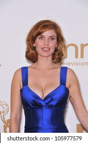 "LOS ANGELES, CA - SEPTEMBER 18, 2011: Kelli Garner, star of new TV series ""Pan Am"", at the 2011 Primetime Emmy Awards at the Nokia Theatre, L.A. Live. September 18, 2011  Los Angeles, CA"
