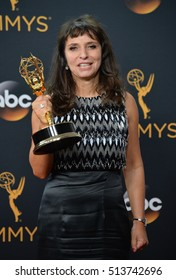 LOS ANGELES, CA. September 18, 2016: Director Susanne Bier at the 68th Primetime Emmy Awards at the Microsoft Theatre L.A. Live.