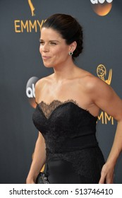 LOS ANGELES, CA. September 18, 2016: Actress Neve Campbell at the 68th Primetime Emmy Awards at the Microsoft Theatre L.A. Live.