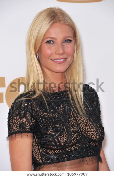LOS ANGELES, CA - SEPTEMBER 18, 2011: Gwyneth Paltrow at the 2011 Primetime Emmy Awards at the Nokia Theatre, L.A. Live. September 18, 2011  Los Angeles, CA