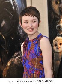 "LOS ANGELES, CA - SEPTEMBER 19, 2010: Emily Browning at the world premiere of ""Legends of the Guardians: The Owls of Ga'Hoole"" at Grauman's Chinese Theatre, Hollywood."