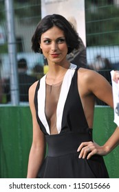 "LOS ANGELES, CA - SEPTEMBER 19, 2012: Morena Baccarin at the premiere of ""Trouble With The Curve"" at the Mann Village Theatre, Westwood."