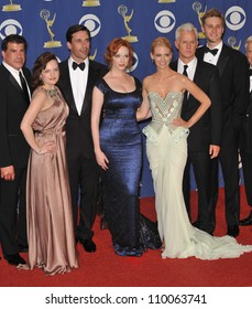 LOS ANGELES, CA - SEPTEMBER 20, 2009: Cast of Mad Men - including Elizabeth Moss, John Hamm, Christina Hendricks, January Jones at the 61st Primetime Emmy Awards at the Nokia Theatre L.A. Live.