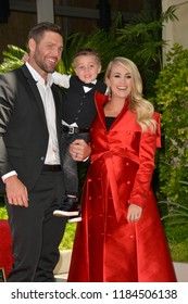 LOS ANGELES, CA. September 20, 2018: Carrie Underwood, Mike Fisher & Isaiah Fisher at the Hollywood Walk of Fame Star Ceremony honoring singer Carrie Underwood.Pictures: Paul Smith/Featureflash