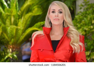 LOS ANGELES, CA. September 20, 2018: Carrie Underwood at the Hollywood Walk of Fame Star Ceremony honoring singer Carrie Underwood.Pictures: Paul Smith/Featureflash