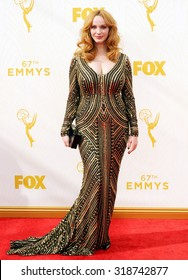 LOS ANGELES, CA - SEPTEMBER 20, 2015: Christina Hendricks at the 67th Annual Primetime Emmy Awards held at the Microsoft Theater in Los Angeles, USA on September 20, 2015.