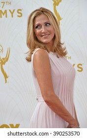 LOS ANGELES, CA - SEPTEMBER 20, 2015: Edie Falco at the 67th Primetime Emmy Awards at the Microsoft Theatre LA Live.