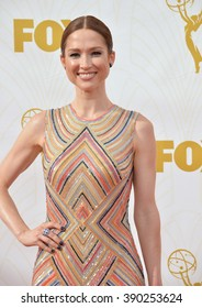 LOS ANGELES, CA - SEPTEMBER 20, 2015: Ellie Kemper at the 67th Primetime Emmy Awards at the Microsoft Theatre LA Live.