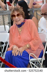 LOS ANGELES, CA. September 20, 2016: Shirley MacLaine at the Hollywood Walk of Fame star ceremony honoring actress Kathy Bates.